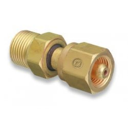 Western Enterprises - 831 - Western CGA-280 X CGA-540 Brass Cylinder To Regulator Adapter