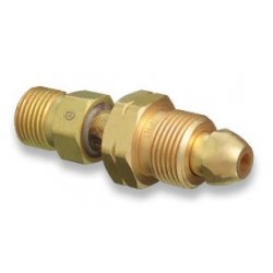 Western Enterprises - 858 - Western CGA-590 X CGA-346 Brass Cylinder To Regulator Adapter