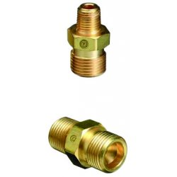"Western Enterprises - B-348 - Western CGA-347 Male RH X 1/2"" NPT .825"" - 14 NGO Brass 5000 psig Valve Outlet Adapter (For Manifold Pipeline)"