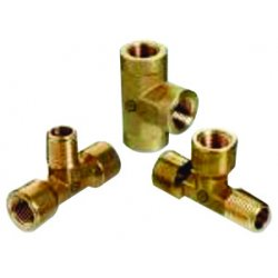 "Western Enterprises - BFT-4SS - Western 1/4"" NPT Female Stainless Steel 6000 psig 3 Way Pipe Tee"