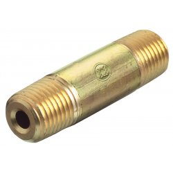 Western Enterprises - BN-4-50HP - Western 1/4' NPT Male X 5' L Brass 3000 psig Pipe Nipple, ( Each )