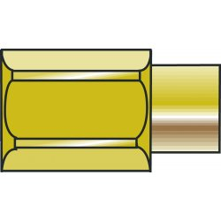 Western Enterprises - BT-2M3 - Western 1/4' NPT Female X 3/8' OD Brass 3000 psig Manifold Adapter Bushing, ( Each )
