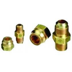 "Western Enterprises - F-32 - Western CGA-295 3/8"" NPT Male 1/2"" SAE Flair Brass 500 psig Tubing Connection Adapter"