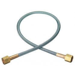"Western Enterprises - PF2-4-24 - Western Oxygen 1/4"" NPT Female X 24"" Stainless Steel Flexible Pigtail With Brass Connection"