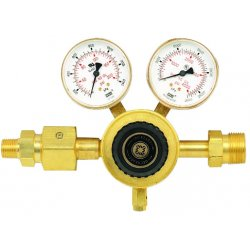 "Western Enterprises - RM-4-4 - Western Carbon Dioxide 1"" - 11 1/2 NPS RH Forged Brass Single Stage In-Line Manifold Regulator"