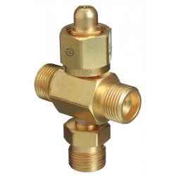 Western Enterprises - T4-540 - Western CGA-540 Male RH Brass 3000 psig 4 Way Manifold Coupler Tee With Without Check Valve
