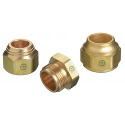 Western Enterprises - TN2-2 - Western TN2-2 7/8' - 20 Brass Tip Nut, ( Each )