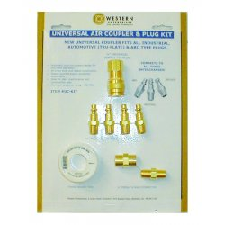 Western Enterprises - UC-KIT - Universal Air Coupler & Plug Kit (Pack of 2)