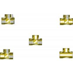 Western Enterprises - WHF-4-14 - Western .843' - .847' X .843' - .847' X 1/2' NPT Female 2 1/2' Brass 3000 psig Manifold Pipe Tee, ( Each )