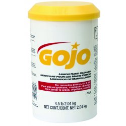 Gojo - 0905-06 - GOJO 4 1/2 lb Plastic Cartridge Yellow Lemon Scented Hand Cleaner