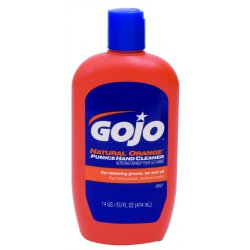 Gojo - 0957-12 - GOJO 14 Ounce Bottle White NATURAL* ORANGE Citrus Scented Heavy Duty Hand Cleaner
