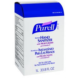 Gojo - 2156-04 - GOJO 1000 ml Refill Clear PURELL Fragrance-Free Scented Hand Sanitizer