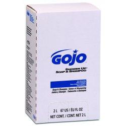 Gojo - GOJ 7230 - Shower Up Soap & Shampoo, Rose Colored, Pleasant Scent, 2000mL Refill, 4/Carton