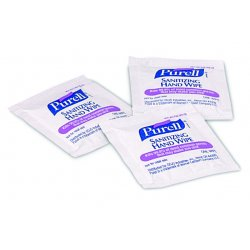 Gojo - 9021-1M - Purell Sanitizing Hand Wipe Towelettes - White - Individually Wrapped - For Hand, Healthcare, Food Service, Hospitality, Travelling - 1000 / Carton