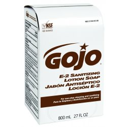 Gojo - 9132-12 - Sanitizing Liquid Soap Refill, 800 mL Bag In Box, 12 PK