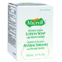 Gojo - 9756-06 - MICRELL Antibacterial Lotion Soap, Amber, 800mL Refill, 6/Carton