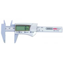 "General Tools - 1433 - Fractional Digital Caliper 0-3""/0-76mm Range, 0.0005""/0.01mm Resolution, IP Rating: Not Rated, Carbo"