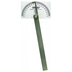 "General Tools - 318-17 - Pivot-Arm Square-Head Steel Protractor, 3 3/8"" x 2"" Head, 6"" Arm"