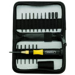 General Tools - 63518 - 19 Piece Precision UltraTech Screwdriver/ Nutdriver/Torx Set