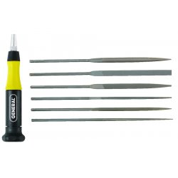 "General Tools - 707476 - 5-1/2"" Swiss Pattern Needle File Set with Natural Finish&#x3b; Number of Pieces: 6"