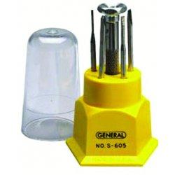 General Tools - S605 - Jewelers Screwdriver Setinterchangeable