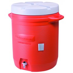 Rubbermaid - 1655-01-11 - 7 Gal Orange Plastic Water Cooler 1655, Ea