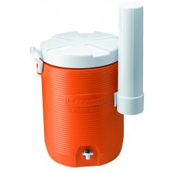 Rubbermaid - 1841106 - Cooler 5gal Water W/ Cupdispenser -oran