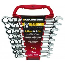 GearWrench - 9701 - 8pc Flexible Comb Ratcheting Wrench Set - Sae