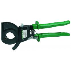 "Greenlee / Textron - 45206 - Ratchet Cable Cutter, 10"" Overall Length, Center Cut Cutting Action, Primary Application: Electrical C"