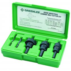 Greenlee / Textron - 50035991 - Carbide Tipped Hole Cutter Kit (7/8In, 1-1/8In, 1-3/8In)