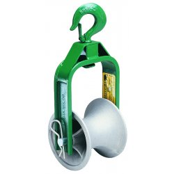 Greenlee / Textron - 650 - Roller 6 Dia. x 5 Width Cable Puller Sheave&#x3b; For Use With: Any Cable Puller