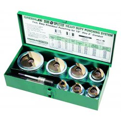 Greenlee / Textron - 7307 - Hydraulic Punch Driver Set, 10 ga. SS