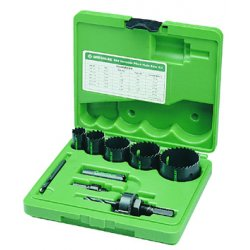Greenlee / Textron - 889 - Plumber Hole Saw Kit, Bi-Metal, 10 pcs.