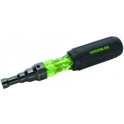 "Greenlee / Textron - 9753-11C - Steel Conduit Fitting Screwdriver with 2-1/2"" Shank and 1/2"", 3/4"", 1"" EMT Keystone Slotted Tip"