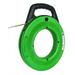 Greenlee / Textron - FTFS439-50 - Greenlee Fish Tape,Flexible Steel-50' - Green, Black - Steel, Plastic - 5.60 lb - Comfortable Grip, Non-slip Grip