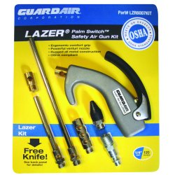 Guardair - LZR6007KIT - Aluminum Ergonomic Air Gun Kit&#x3b; Max. Inlet Pressure: 120 psi