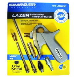 Guardair - LZR6507KIT - Aluminum Pistol Grip Air Gun Kit&#x3b; Max. Inlet Pressure: 120 psi
