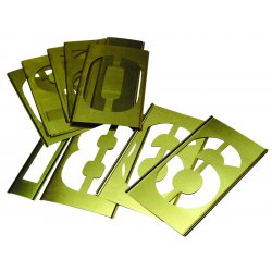 "C.H. Hanson - 10011 - Stencil Kit, Numbers, 2"", Brass, 1 EA"