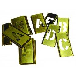 """C.H. Hanson - 10029 - Stencil Kit, A Thru Z, Punctuation, 1-1/2"""", Brass, 1 EA"""