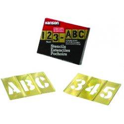 """C.H. Hanson - 10146 - 1/2"""" 92pc. Brass Stencilset Letters & N"""
