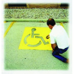 "C.H. Hanson - 12438 - 43"" High Handicapped Symbol Parking Lot, Ea"