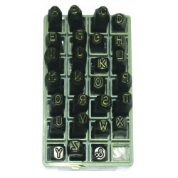 "C.H. Hanson - 25800 - 1/8"" Round Face Letter Set Low Stress"