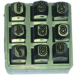 "C.H. Hanson - 26641 - 1/4"" 9pc. Dot Design Number Set Low Stress"