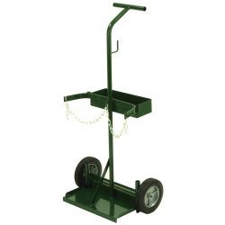 Harper Trucks - 108-70 - Harper Series 100 Cylinder Truck With 8' X 1 3/4' Semi-Pneumatic Wheels, Uni Handle, 8' X 1 3/4' Base Plate, Cylinder Hold Chain And Hose Supports (For Small And Medium Cylinders), ( Each )