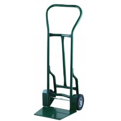 "Harper Trucks - 32T57 - Harper Series 32T 900 lb Industrial Hand Truck With 8"" X 2 1/4"" Offset Poly Hub Solid Rubber Wheels, Continuous Handle, 17 1/2"" X 14"" X 13"" Base Plate And Taper Nozzle Base"