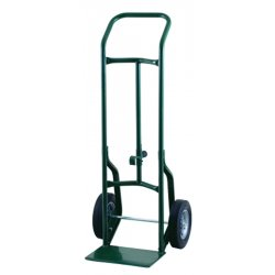 Harper Trucks - 52DA60 - Harper Series 52D 600 lb Industrial Hand Truck With 10' X 2 1/2' Offset Poly Hub Solid Rubber Wheels, Continuous Handle, 8' X 14' Base Plate And Chime Hook, ( Each )