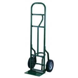 """Harper Trucks - 5860 - Harper Series 58T 800 lb Industrial Hand Truck With 10"""" X 2 1/2"""" Offset Poly Hub Solid Rubber Wheels, Single Loop Handle, 8"""" X 14"""" Base Plate And Eze-Off"""