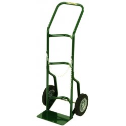 "Harper Trucks - 701-16 - Harper Series 700 Single Cylinder Hand Truck With 10"" X 3 1/2"" Pneumatic 2-Ply Wheels, Continuous Handle And 7"" X 24"" Base Plate (For Medium To Large Cylinders)"