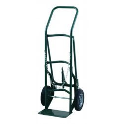 Harper Trucks - 701BC86-40 - Harper Series 700 Cylinder Hand Truck With 10' X 2' Solid Rubber Wheels, 3' X 1 1/4' Rubber Factory Installed Caster And 7' X 14' Base Plate, ( Each )