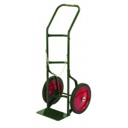 "Harper Trucks - 740-27 - Harper Series 700 Single Cylinder Hand Truck With 14"" X 1 3/4"" Semi-Pneumatic Wheels, Continuous Handle And 7"" X 14"" Base Plate (For Medium To Large Cylinders)"